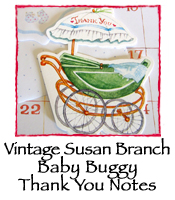 Baby Buggy Thank You Notes, Vintage Susan Branch