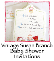 Baby Shower Invitations, Vintage Susan Branch