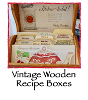 Vintage Wooden Recipe Boxes