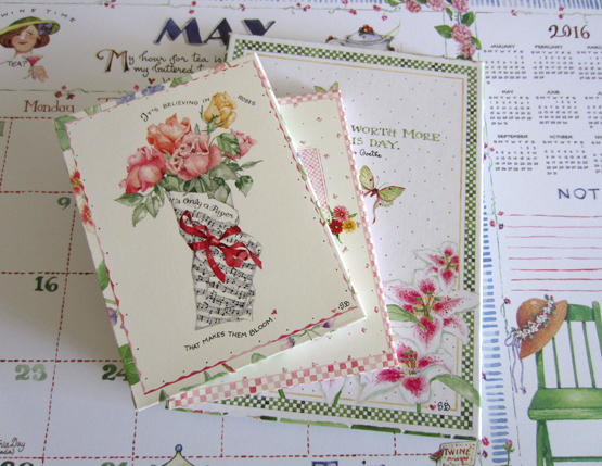 Stationery Bundle, set of 3, Vintage Susan Branch