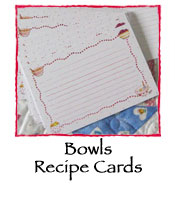 Susan Branch Recipe Cards (Bowls)